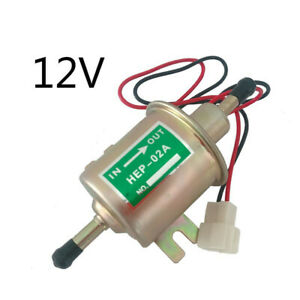 Universal Low Pressure 4-7PSI Diesel Gas Inline Electric Fuel Pump 12 V HEP-02A