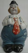 Vintage Ceramic Bobble Head Clown Bank