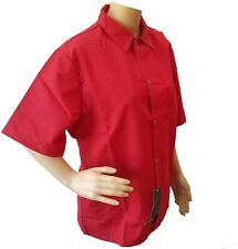 Chef Jacket Short Sleeve Men Women Kitchen Red Chef Coat Working Uniform Pocket