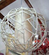 Lampadario in  Metallo ricoperto di Ratan sintetico 40cm ETNICO luci lampade ufo