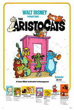 "THE ARISTOCATS Movie Poster [Licensed-NEW-USA] 27x40"" Theater Size DISNEY"