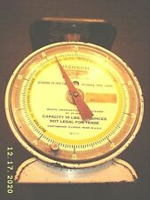 HANSON SCALE COOK-O-METER MODEL NO. 1310 10 LBS. CAPACITY WHITE GRADUATION USED