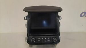 16 GMC YUKON DENALI XL OEM RADIO AUDIO CONTROL PANEL WITH DISPLAY SCREEN