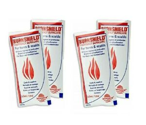 Burnshield Burn Gel - 3.5g Sachets, Cooling Relief Scalds Dressing, First Aid