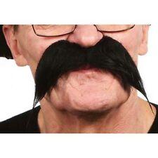 Moustache longue noire postiche 26430G façon gauloise theatre costume deguisemen