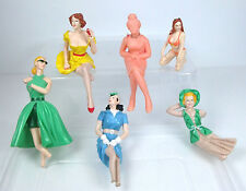 Plastic female figures for models for cars, passengers, models etc, Retro