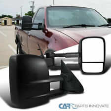 97-03 Ford F150 Regular Super Cab Telescoping Black Towing Side Mirrors Manual