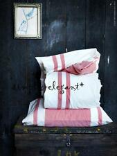 Ikea Quilt Cover Duvet Cover & Pillowcases White Red Stripe Bjornloka Full Queen