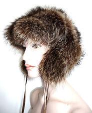 Pelzmütze Pelz Mütze Waschbär fur hat Vison Cap Pelzhut Hut raccoon unisex piel