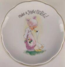 "1980 Precious Moments Collectors Plate *Make a Joyful Noise* 4"" plate"