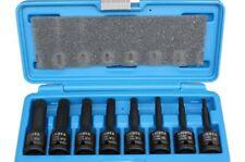 """Schlagschrauber Steckschlüssel-Set Cr-Mo 1/2"""" Spline (XZN) M5 - M18, 8tlg."""