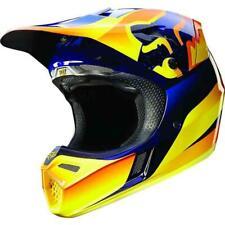 Fox Racing V3 Flight Full Face Offroad MX Dirt Bike Helmet Orange Blue Medium