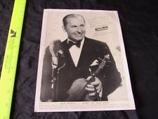 Vintage Promotional Print Portrait-Ben Bernie-Wake Up and Live-Liberty Theater
