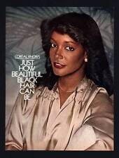 VINTAGE PRINT AD BLACK AMERICANA 1978 L'OREAL HOW BEAUTIFUL BLACK HAIR CAN BE