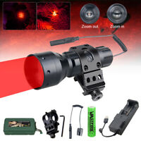 LED Tactical Flashlight Torch Hunting Zoomable Light Predator Varmint Hog Coyote