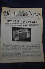 December 1933 *ORIGINAL The Scott News, Two Receivers in One