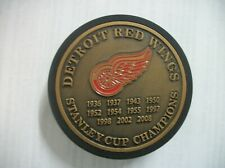 DETROIT RED WINGS STANLEY CUP  CHAMPIONS COMMEMORATIVE  PUCK