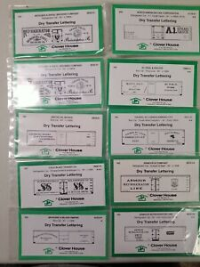Ho Scale  Assorted Dry Transfer Lettering Lot of 10