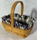 Longaberger ~  Parsley Booking Basket w/liner and protector