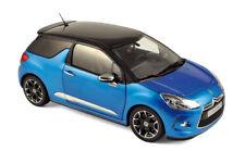 1/18 VOITURE Citroën DS3 2011 - Belle Ile Blue & Black-NOREV181539
