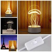3D LED lampe de nuit bureau lampe chambre décor à la maison
