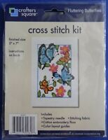 Crafters Square Counted Cross Stitch Fluttering Butterflies Kit 847671