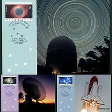 1992 International Space Year Maxi Cards Prepaid Postcard Maxicards Stamps