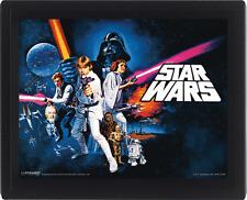 Star Wars 3D-Effekt Poster im Rahmen A New Hope 26 x 20 cm NEU & OVP