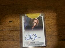 Gillian Anderson Autograph Card X Files Seasons 10 And 11 Rittenhouse 2018