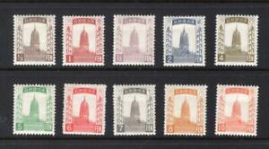 Manchukuo 1932 Partial Set - OG MH - SC# 1-4, 6-11  Cats $71.25 - No Reserve!