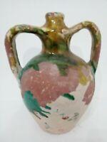 Bottiglia vaso versatoio ceramica smaltata meridione Caltagirone Grottaglie Semi