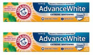 2 Pack Arm & Hammer Advance White Extreme Whitening Clean Mint 6 Oz Each NIB