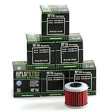 6 x Hiflo Oil Filter HF116 for Honda CRF450R MX 2008 2009 2010 2011 2012 2013