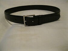 Ermenegildo Zegna GENUINE AMERICAN Alligator Leather Belt 85CM BLACK Italy