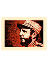 Fidel - Red (Silkscreen Signed Limited Edition of Just 10) By Ernesto Yerena