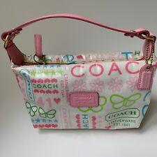 Coach Multi-Color Mini Baguette Purse Leather and Coated Canvas