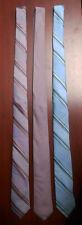 NEW 3 pcs CALVIN KLEIN ck necktie tie TIES diagonal stripe BLUE RED purple