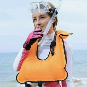 OMOUBOI Inflatable Snorkel Vest Adult for Men Women Large Snorkeling Life Vest for Diving Swimming Safety(Made in 2019)