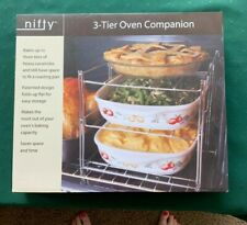 Nifty 3-Tier Oven Companion Rack-New in Box ENGLISH AND FRENCH INSTRUCTIONS