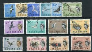 Ascension 1963 Birds set SG70/83 FU