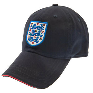 England FA 3 Lions Crest Washed Cap - Navy - One Size