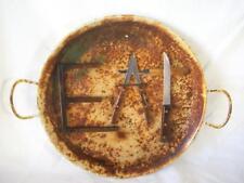 """EAT"" Sign - Large Round Metal, Rustic, Primitive, Cafe, Dining Decor - 18"""