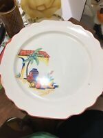 Vintage W.S. George Bolero White Mexican Themed Dinner Plate