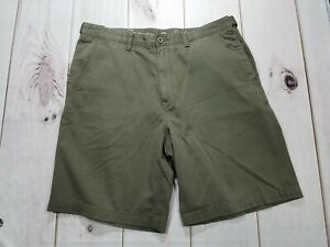 TOMMY BAHAMA Mens Green Casual Chino Shorts Flat Front Size 35
