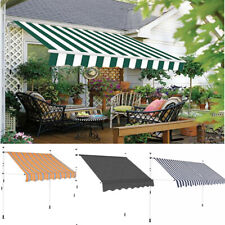 Garden Patio Manual Awning Canopy Sun Shade Shelter Retractable 5 Size 5 Colour