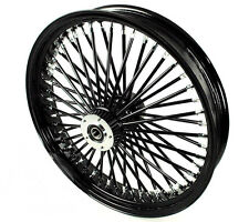 "FAT SPOKE 21"" BLACK FRONT WHEEL 2008-2015 HARLEY ELECTRA GLIDE ROAD KING STREET"