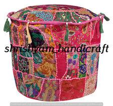 "pouffes Pouffe Patchwork Ottoman Urban Decor Throw Indian Pouf Ottoman Cover 22"""