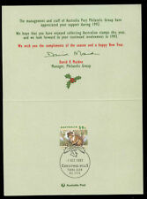 Australia 1992 Christmas Australia Post Greetings Card #C12302