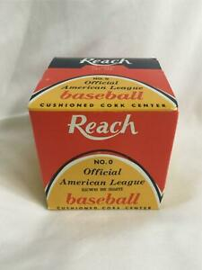 Vintage New in Box Official Cronin REACH American League Baseball No. 0