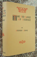 The Red Badge of Courage ~ by Stephen Crane, First Edition, 1898 w/ Facsimile DJ